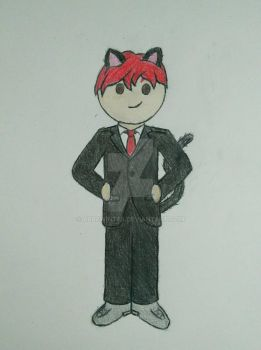 OMGChad Business Cat by AbbeWinter