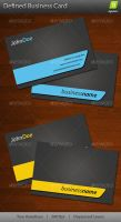 Defined Business Card by agneva