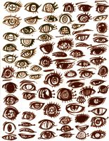bunch of eyes by C2ndy2c1d