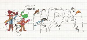 Mario and the Gang Get Frozen by greenth1ng