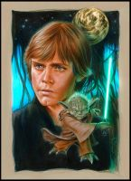 Luke and Yoda on Dagobah by jasonpal