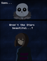Undertale- Aren't the stars beautiful...? by K-chanLovesAnimeXD