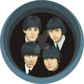 Beatles, retrato en vector by Puchalt
