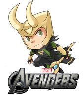 The Avenger : Chibi Loki by bibirockability