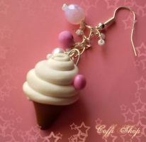 Yummy ice cream earring by coffishop