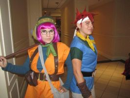 Lucca and Crono at PMX by SoraSkater