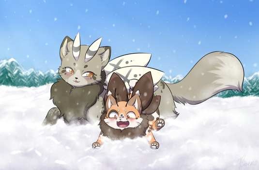 [MC Art Exchange] Baby's first winter by Furreon
