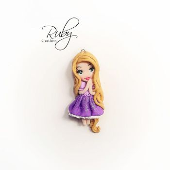 Rapunzel polymer clay pendant by Ruby-creations