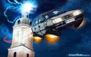 Flying Polonez (wallpaper) by Pickador