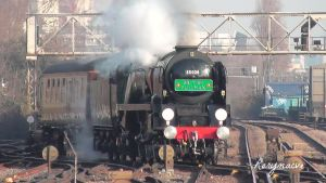 SR 35028 'Clan Line' at Clapham Junction by The-Transport-Guild