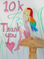 10k thanks by LainaInverse