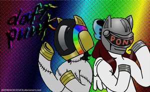 Daft Punk [Request] Lucky para Clock by Bre-Ce-Cuca