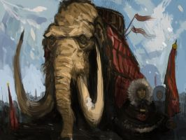 Mammoths of the north by Cinvira