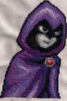Raven Xstitch by coincollect408