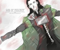 God of Mischief - First try by White-king2332