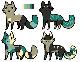 Feline adopts - same palette CLOSED by AaliAdopts
