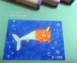 Pipsqueak Caterwhal ATC - Original Art by jdrainville