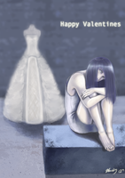Wedding Dress - Happy Valentines by waterpieces