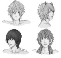 CHiRAL Protags by taleoftails
