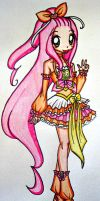 Cure Lyre DESIGN COMMISION by sekaiichihappy