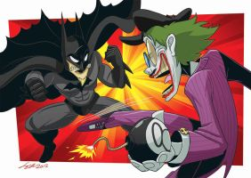 Commission: BatDave vs. PsyJoker by SupaCrikeyDave