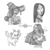 Disney sketches by venea1391