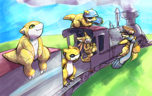 A Train Full of Shrews by ClockworkShrew