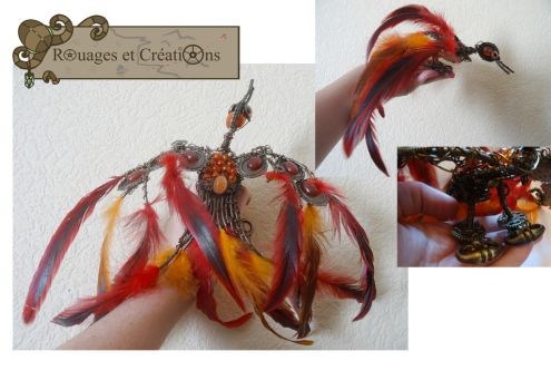 Steampunk Moking Geai by Rouages-et-Creations