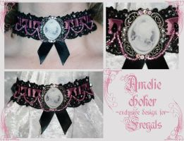 Amelie choker by redLillith