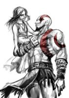 Kratos and Calliope by sunsetagain