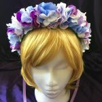 Blue and Purple Flower Crown by TaylorsMaid
