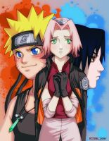 Konoha Love Triangle by RosaKiddy