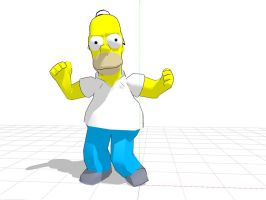 Homero Simpson MMD by Danthrox