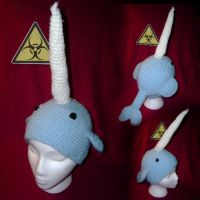 Narwhal Hat by HazardousHats
