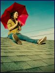 Amy on the Roof by tinaubuggin