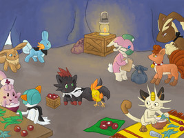 PMD-E Event 3 Collab by Chari-Artist
