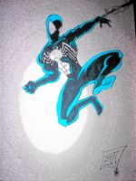 black spidey by SSJBROLY