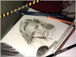 Jennifer Lawrence 2 - WIP 2 by thewholehorizon