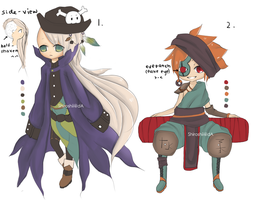 Pirate Adoptables o3 [closed] by Shiroshii