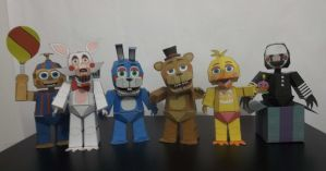 Five Nigths at Freddy's 2 papercraft by Adogopaper