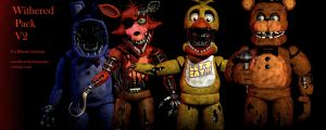FNAF 2 Withered Pack V2 [FULL DOWNLOAD] by CoolioArt
