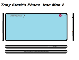 Tony Starks Phone from Iron Man 2 by bagera3005
