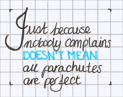 Just because nobody complains (...) by A-mieke