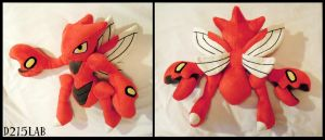 Scizor plush by d215lab