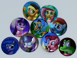 BronyDays Buttons by DeathPwny