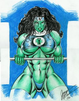 She-Hulk in color, by Joseph Mackie by zefly88