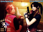 Vicky Redfield and Claire Redfield Wallpaper by Rebeccamines