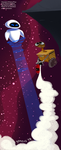 EVE and WALL-E by schematichands