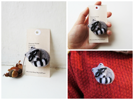 Sleeping Forest Collection: Racoon by mar-rie