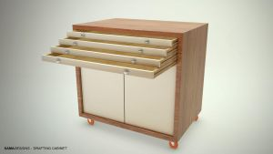 Drafting Cabinet - Open Drawers by Sama-mj